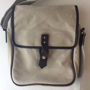 Banana Republic Bags - Banana Republic Canvas Leather Trim Crossbody Bag